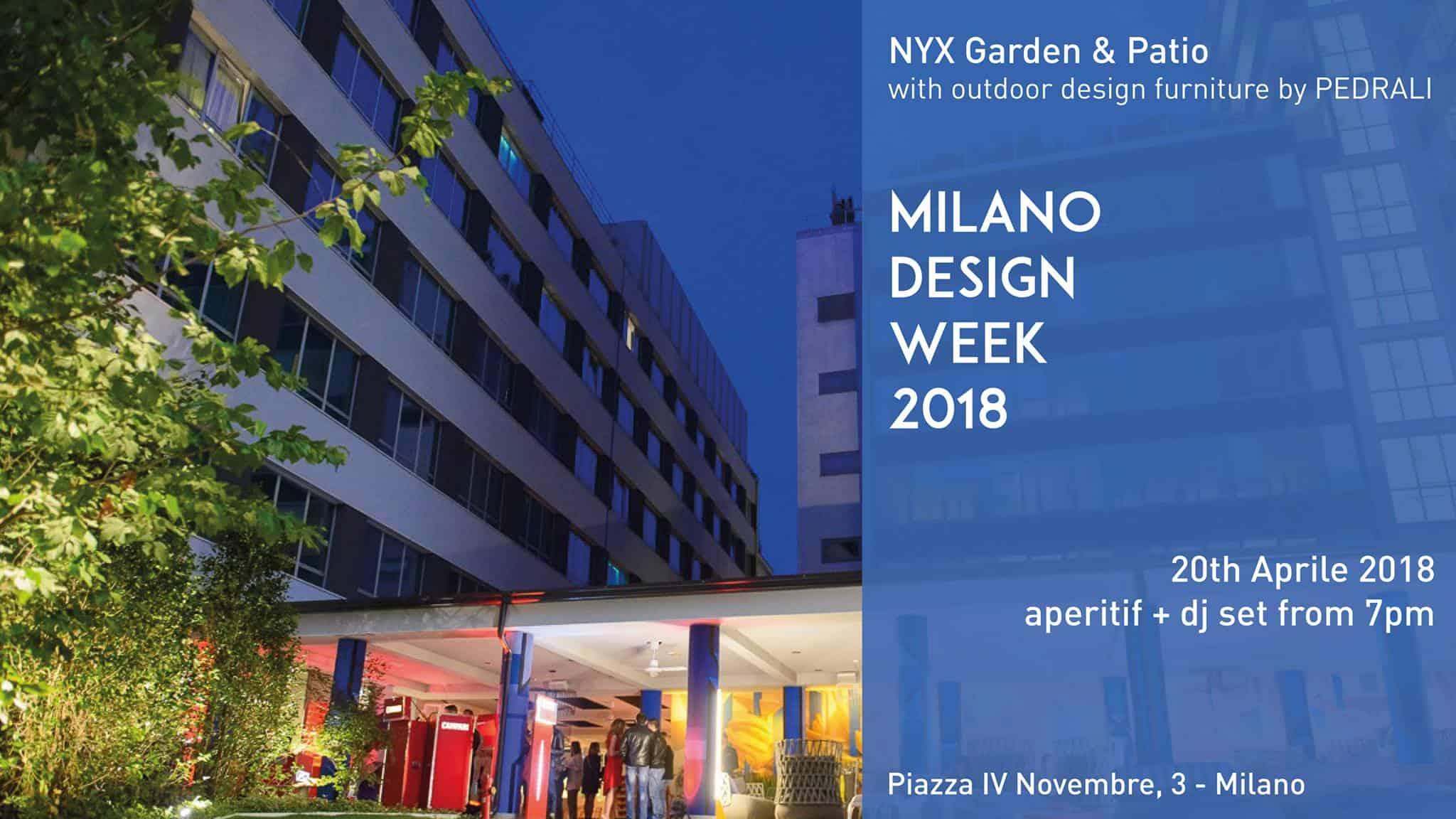 NYX MILAN Opening Garden DESIGN WEE