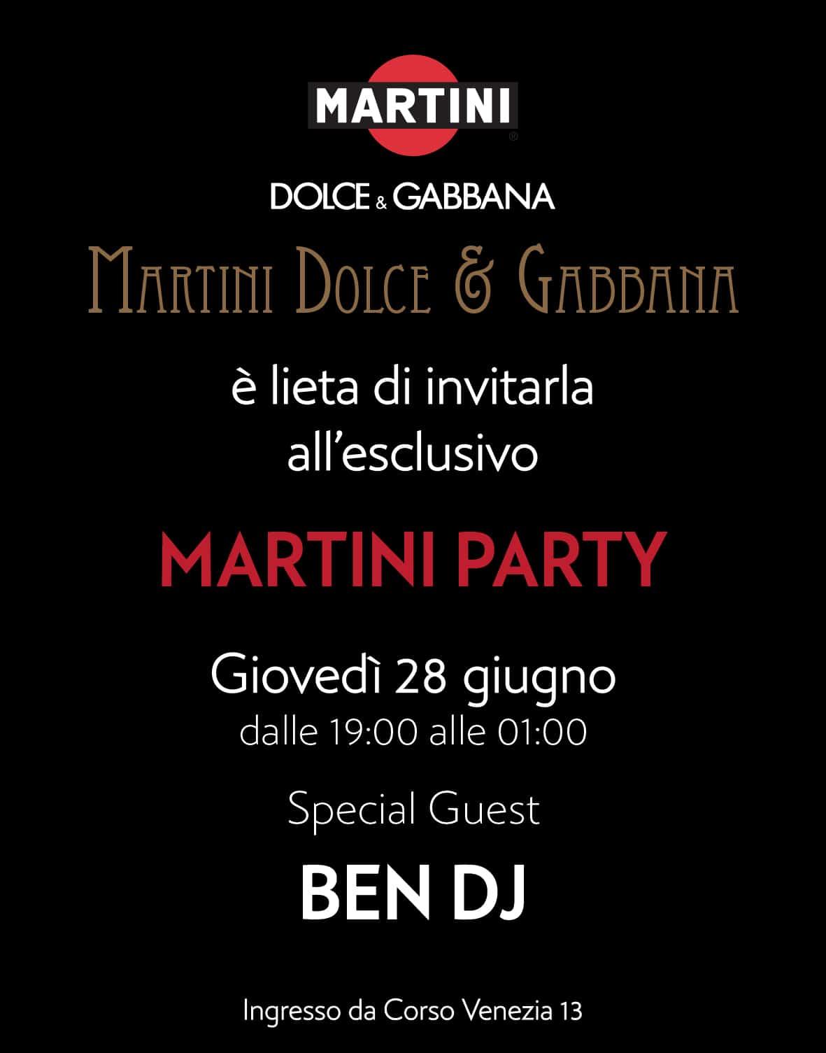 MARTINI DOLCE & GABBANA