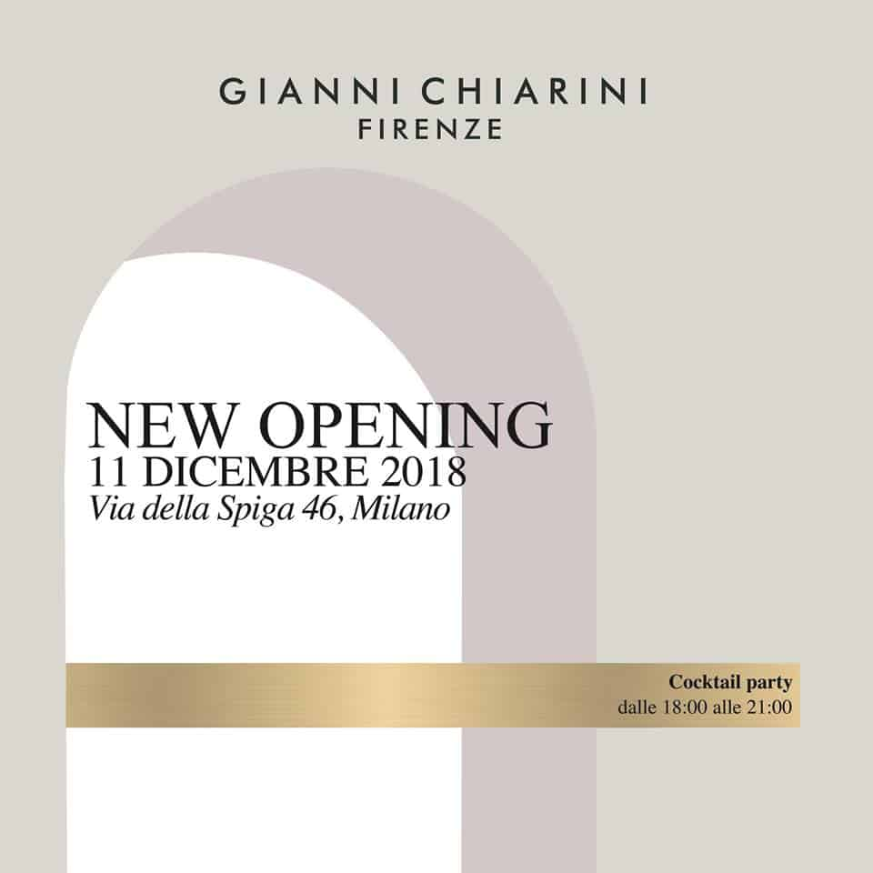 GIANNI CHIARINI NEW OPENING