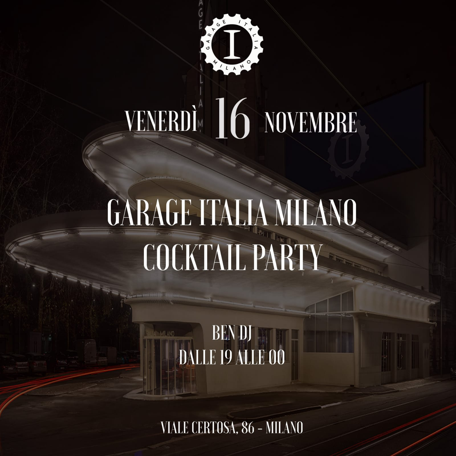 garage italia cocktail party
